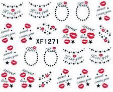 Accessoire ongles nail art , Stickers décalcomanie, Saint Valentin bouche , kiss