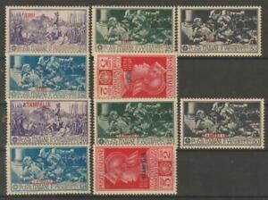 ITALIAN COLONIES AEGEAN SIMI-Stampalia 1930 - 2 Ferrucci sets MLH / N7180