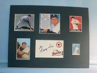 Baseball Hall of Famer George Kell & his autograph
