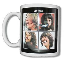 "THE BEATLES ""LET IT BE"" WHITE CERAMIC COFFEE MUG COLLECTIBLE NEW NIB"