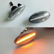 2x Dynamic Clear LED Side Marker signal Light For Benz W450 W452 W168 Vito W639