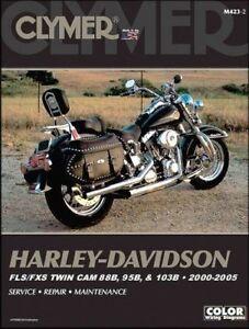 2000-2005 Harley Davidson FLS FXS Softail CLYMER REPAIR MANUAL M423