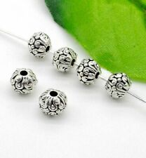 50Pcs Tibetan Silver Flower Spacer Beads For Jewelry Making DIY 5.5x6.5mm