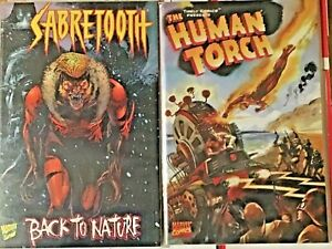 SABRETOOTH BACK TO NATURE 1998 NM TIMELY COMICS PRESENTS THE HUMAN TORCH 1999 NM