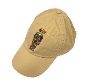 Polo Ralph Lauren Men's Khaki Embroidered Toggle & Coat Blazer Bear Chino Hat