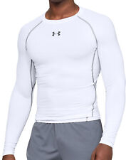 Under Armour HeatGear Compression Mens Long Sleeve Top - White