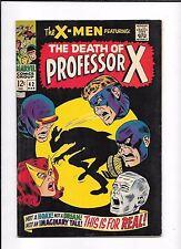 X-MEN #42 ==> VF- THE DEATH OF PROFESSOR X & CYCLOPS ORIGIN MARVEL COMICS 1968