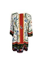 Zara Womens Size M Shift Bell Sleeves Butterfly Ladybug Midi Dress