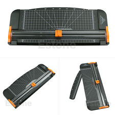 New Jielisi 909-5 A4 Guillotine Ruler Paper Cutter Trimmer Cutter Black-Orange