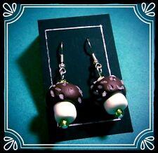 ** Coconut Mushroom Earrings - handmade fimo sweet summer**