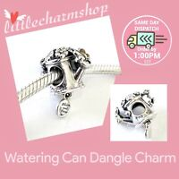 New Authentic PANDORA Silver Watering Can Hanging Charm - 797873ENMX RETIRED
