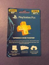 Sony PlayStation Plus 12 Month Membership Card *FAST Delivery* NEW
