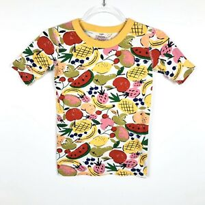 Hanna Andersson Mixed Fruit Pajama Short Sleeve Top Organic Cotton Sz 12