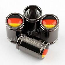 Titanium Auto Accessory Wheel Tyre Valve Air Dust Cap Cover German De Flag Logo