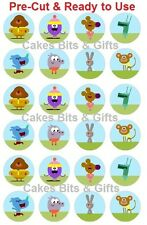24 x HEY DUGGEE MIX Edible Wafer Cupcake Cake Toppers Pre Cut & Ready to Use.
