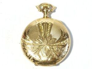 ELGIN Nat Watch Co Gold Filled Keystone Fancy Hunter 35mm Pocket Watch 3533023