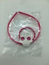 Girls Accessories Set Plastic Bracelet/Earrings/Headband Dark Pink With Pattern