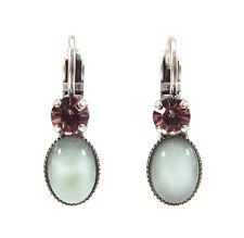 SoHo® Ohrringe Ohrhänger geschliffene Kristalle mint opal handgemachtes Glas