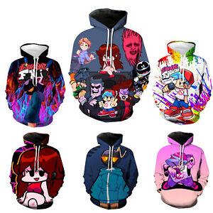 New Game Friday Night Funkin 3D Printed Hoodie Pullover Sweatshirt Cosplay Gift