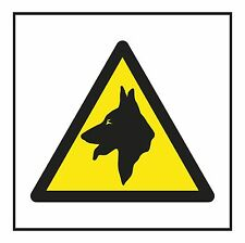 1x danger chien avertissement autocollant sécurité pour porte maison pare-chocs ordinateur portable tablette locker