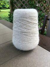 NEW GIANT Cone of 100% Alpaca Sock Super Fine Yarn Ivory White 1.25lb 537g