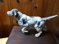 Cast Iron English Setter Pointer Vintage Dog Figurine Door Stop