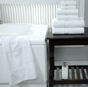 SPA - Hotel Collection 100% Cotton Bath Towels Soft 600 GSM 6 Pack Set - White