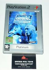 JEU PS2 COMPLET SMACK DOWN VS SHUT YOUR MOUTH PLATINUM REF 125