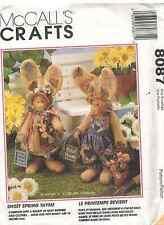"8087 UNCUT McCalls SEWING Pattern Craft Sweet Spring Thyme 16"" Bunny Rabbit OOP"