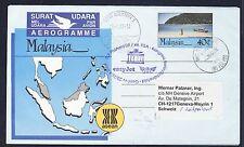 57613) easyJet FISA So-LP Berlin - Genf Schweiz 23.4.2009, Aerogramm Malaysia