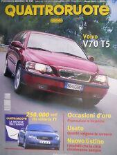 Quattroruote 533 2000 Volvo T5. Honda HR V 1.6. Spider Ferrari e BMW. Bravo Q.61