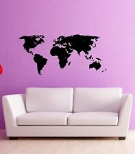 Wall Stickers Vinyl Decal World Map Atlas Travel Geography (ig751)