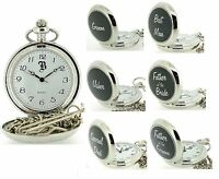 Boxx Silver Tone Gents Mens Grooms Wedding Day Gifts Pocket Watches for Him
