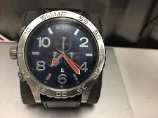 NIXON 51-30 Chrono Brown Leather Navy Watch A124-879