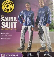 "Gold's Gym Sauna Suit L/XL Unisex Fits waist  36 - 44""  Weight Loss New Open Box"