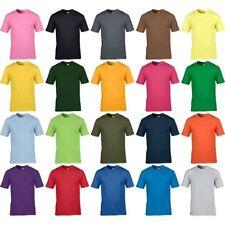 Hombre Gildan Premium Algodón Liso Color Jersey Punto Camiseta de Manga Corta