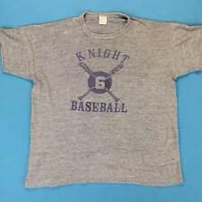 80s Papier Dünn Vintage T-Shirt Größe L M/L Ritter Baseball Viskose Mischung