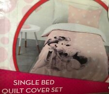New Disney Minnie Mouse Single Bed Quilt Cover Set Doona Bedding Bedspread Pink