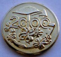 GERMANY, ICH BRINGE GLUCK 2000 Good Luck Token 23mm 5.2g Brass K7.4