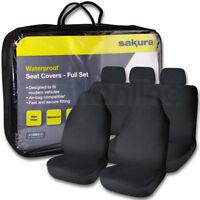 Sakura Full Set Universal Black Waterproof Durable Car Seat Covers Protectors