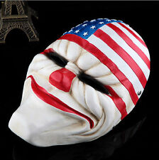 New Online PAYDAY 2 Dallas Mask Heist Joker Costume Prop Collection Cosplay Mask