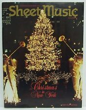 Christmas in New York Sheet Music Magazine Easy Play November/December 1994 RARE