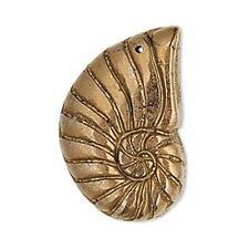 1240 Pendant Pyrite Shell Copper 34mm Pack of 1 *UK EBAY SHOP*