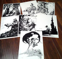 Robert E. Howard's Conan 1989 Black & White Prints