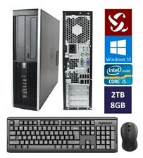 HP Quad Core i5 2.50GHz Desktop Computer 2TB | 8GB | Windows 10 | Wifi