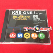 KRS-ONE 5 boroughs Main & Instrumental PROMO SINGLE Rap USED CD Piranha Records