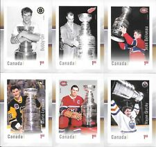 U PICK EM LOT 2017 Canada Post Canadian Hockey Legends Collectors Stamp card set