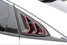 For Honda Civic 2016-2019 Sedan Carbon Fiber Style Rear Side Window Vent