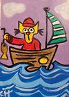 "ACEO CAT ""VITAMIN SEA"" Acrylic 2000-now"