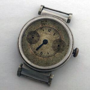 For Part Military Angelus Cal.215 Chronograph Minerva Swiss Steel Case Repair